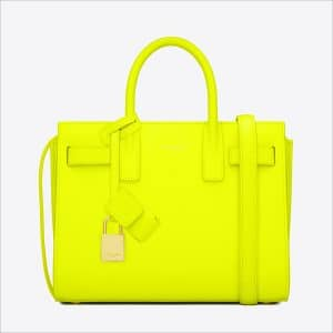 Saint Laurent Neon Yellow Classic Mini Sac De Jour Bag - Spring 2014