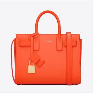 Saint Laurent Orange Classic Mini Sac De Jour Bag - Spring 2014