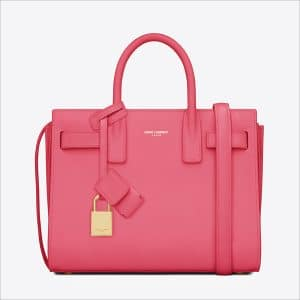 Saint Laurent Pink Classic Mini Sac De Jour Bag - Spring 2014