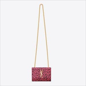 Saint Laurent Pink Leopard Print Classic Monogramme Saint Laurent Small Satchel Bag - Spring 2014