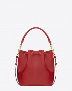 Saint Laurent Red Emmanuelle Bucket Bag 2