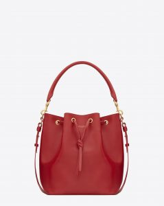 Saint Laurent Red Emmanuelle Bucket Bag
