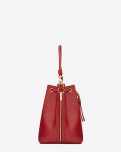 Saint Laurent Red Emmanuelle Bucket Bag - 3