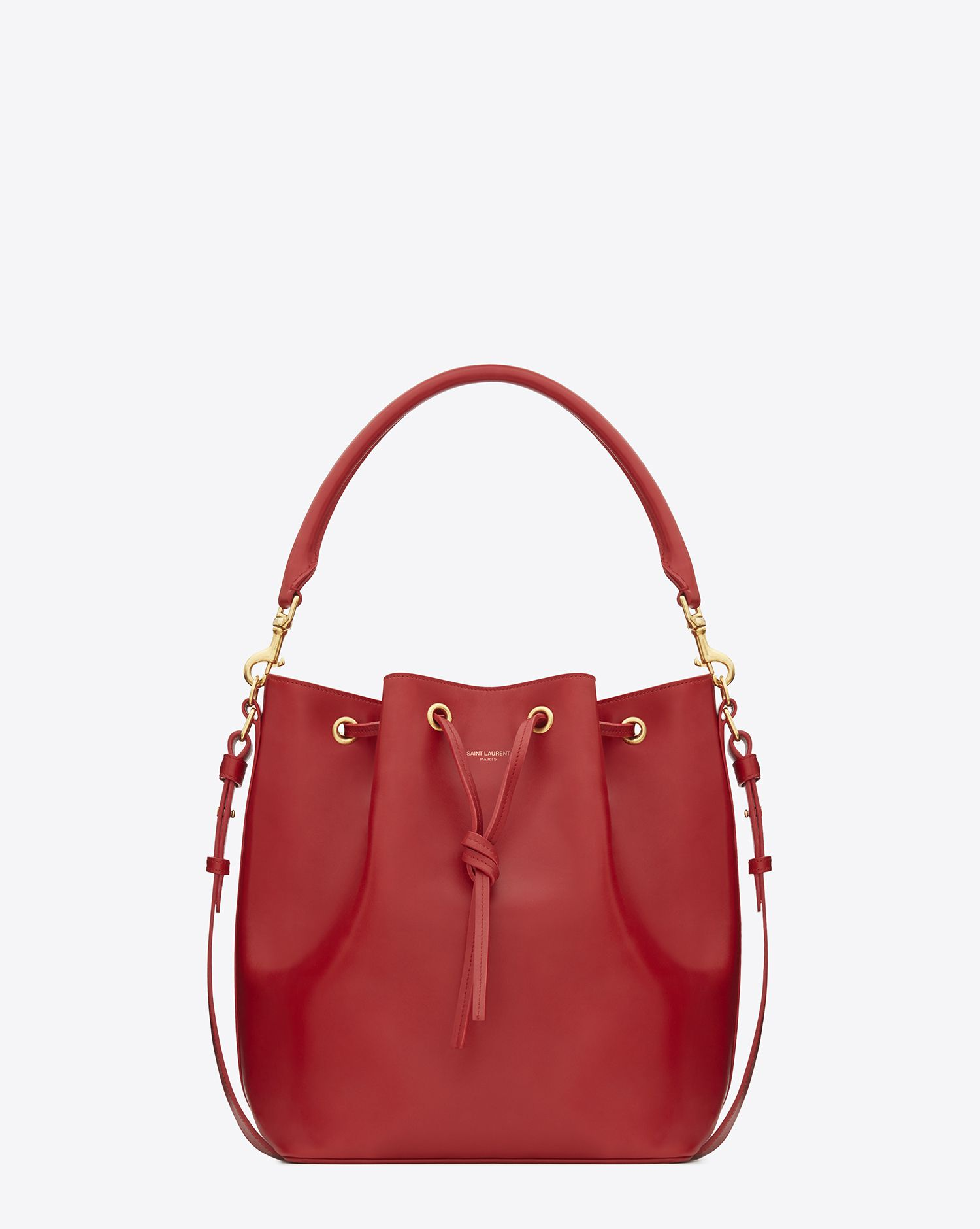 saint laurent emmanuelle bucket drawstring bag reference guide spotted fashion. Black Bedroom Furniture Sets. Home Design Ideas