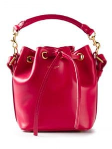 Saint Laurent Small Red Emmanuelle Bucket Bag