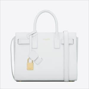 Saint Laurent White Classic Mini Sac De Jour Bag - Spring 2014