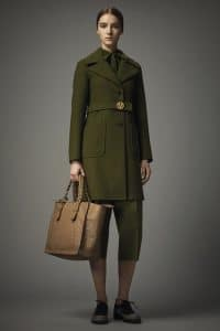 Valentino Tan Ostrich Tote Bag 2 - Pre-Fall 2014