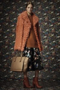 Valentino Tan Ostrich Tote Bag - Pre-Fall 2014