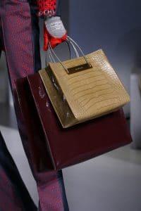 Balenciaga Beige Croc Shopping Tote Bag - Fall 2014