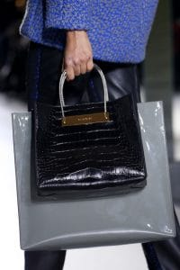 Balenciaga Black Croc Shopping Tote Bag - Fall 2014