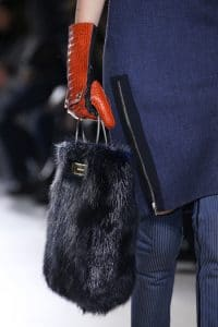 Balenciaga Mink Navy Tote bag with Name Plate - Fall 2014