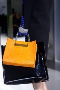 Balenciaga Mustard Yellow Croc Shopping Tote Bag - Fall 2014