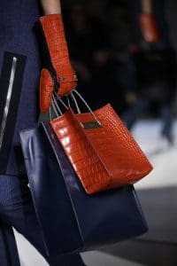 Balenciaga Orange Croc Shopping Tote bag - Fall 2014