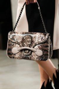 Bottega Brown Python Shoulder Bag - Fall 2014