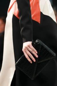 Bottega Veneta Black Crocodile Clutch Bag - Fall 2014