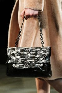 Bottega Veneta Black Python Shoulder Bag - Fall 2014