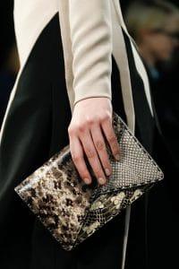 Bottega Veneta Black/White Python Clutch Bag - Fall 2014