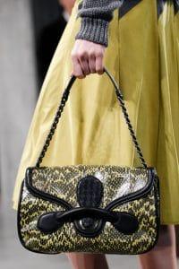 Bottega Veneta Black/Yellow Flap Bag - Fall 2014