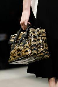 Bottega Veneta Black/Yellow Python Bag - Fall 2014