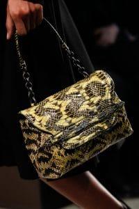 Bottega Veneta Black/Green Intrecciato Clutch Bag - Fall 2014