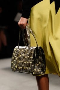 Bottega Veneta Black/Yellow Python Tote Bag - Fall 2014