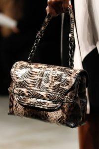 Bottega Veneta Brown Python Shoulder Large Bag - Fall 2014