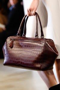 Bottega Veneta Burgundy Crocodile Brera Bag - Fall 2014