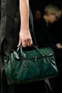 Bottega Veneta Green Leather/Python Bag - Fall 2014