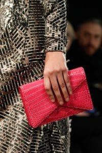 Bottega Veneta Pink Crocodile Clutch Bag - Fall 2014