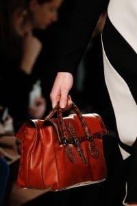 Bottega Veneta Red Leather/Python Bag - Fall 2014