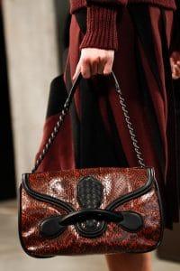 Bottega Veneta Red/Black Python Shoulder Bag - Fall 2014