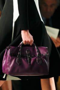 Bottega Veneta Violet Leather:Python Bag - Fall 2014