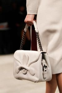 Bottega Veneta White Shoulder Bag - Fall 2014