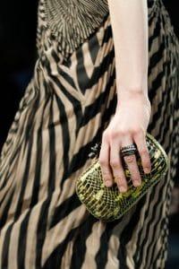Bottega Veneta Yellow/Black Python Knot Clutch Bag - Fall 2014