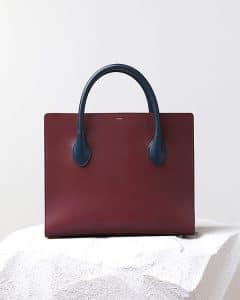 Celine Bicolor Boxy Calfskin Tote Bag - Pre Fall 2014