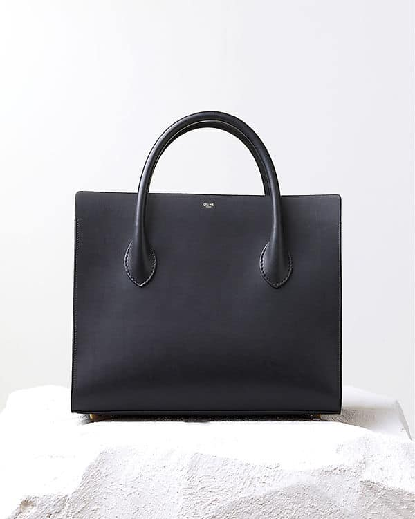 d15fe178d6e9 Celine Black Calfskin Boxy tote Bag - Pre Fall 2014