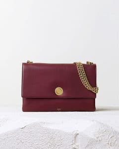 Celine Burgundy Coin Flap Bag - Pre Fall 2014