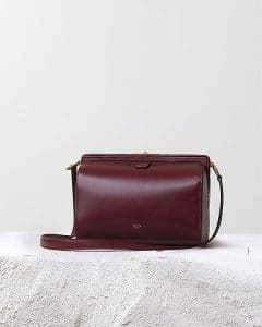 Celine Burgundy Mini Doc Messenger Bag - Pre Fall 2014
