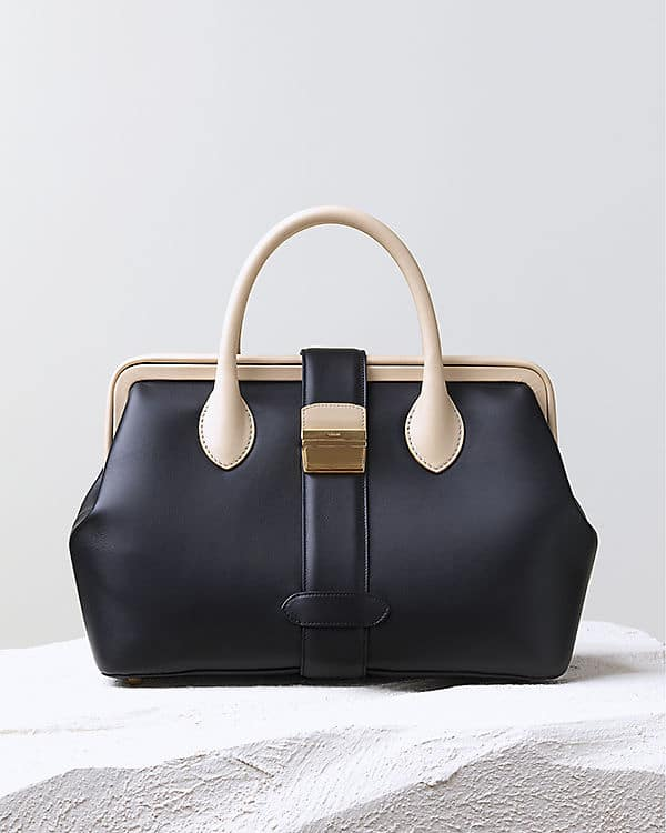 Celine Frame Bicolor Navy Tote Bag - Pre Fall 2014 c7253282530da