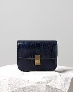 Celine Midnight Blue Pyhon Box Flap Bag - Pre Fall 2014