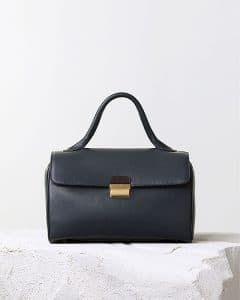Celine Navy Top Handle Natural Calfskin Bag - Pre Fall 2014