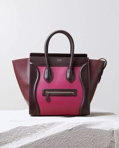 Celine Purple Orchid Tricolor Mini Luggage Bag - Pre Fall 2014