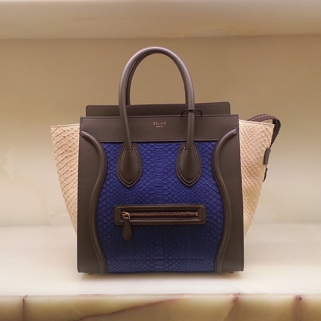 replica celine luggage tote - celine anthracite python handbag