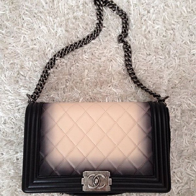 chanel ombre faded quilted boy bag reference guide