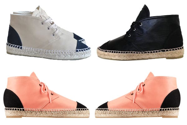 Chanel Lace Up Espadrilles
