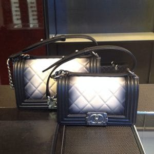 Chanel Ombre Faded Boy Bag side by side - Spring 2014