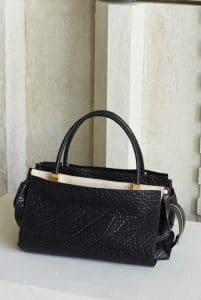 Chloe Black Pebbled Top Handle Bag - Pre Fall 2014