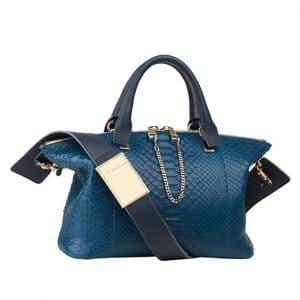 Chloe Carribean Blue Python Baylee Medium Bag - Spring 2014