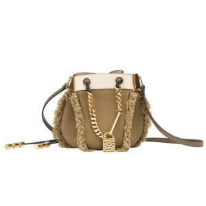 Chloe Olive Green Camille Drawstring Small Bag - Spring 2014