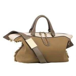 Chloe Olive Green Canvas Baylee Medium Bag - Spring 2014